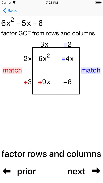 Quadratic Factoring screenshot-5