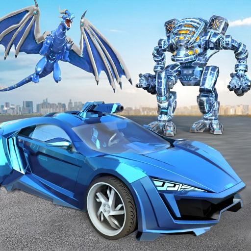 Dragon Robot Transformation Icon