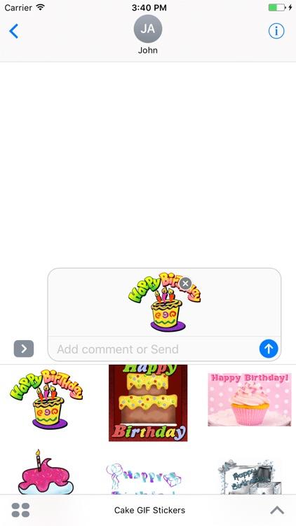 Birthday Cake GIF Stickers screenshot-4