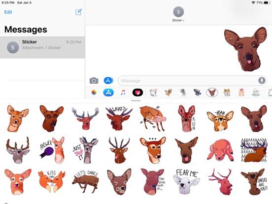 Deer Emoji Funny Stickers screenshot 4