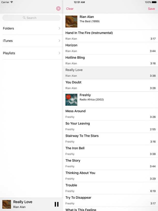 Glazba – Music Player Screenshot
