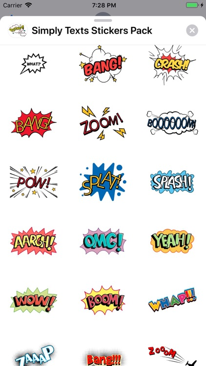 Simply Texts Stickers Pack