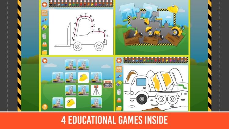 Diggers & Trucks Game For Kids screenshot-4