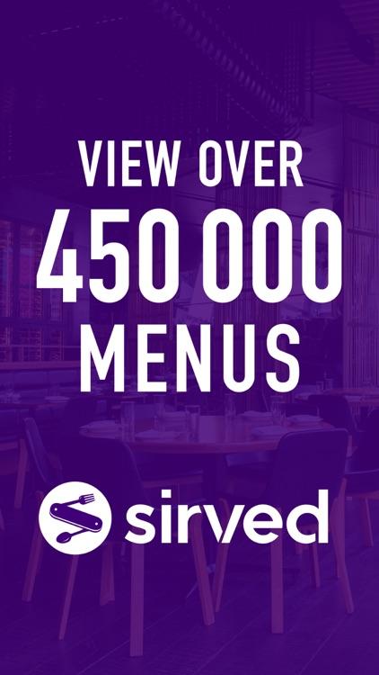 Sirved - Restaurant Menus screenshot-0