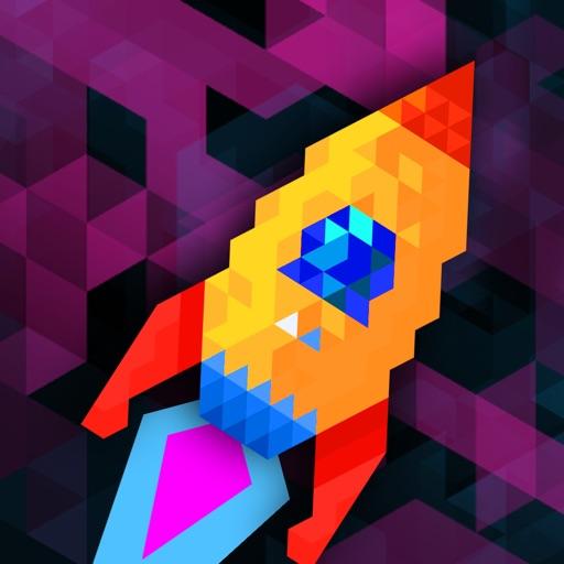 Trixel Rocket icon