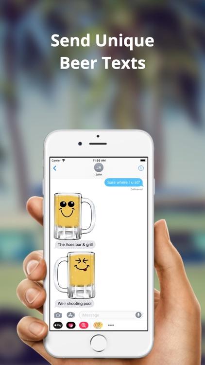 Beer Emoji Party: Fun Stickers screenshot-3