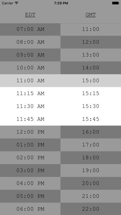 TimeTable - UTC/Time Zone Tool screenshot-4