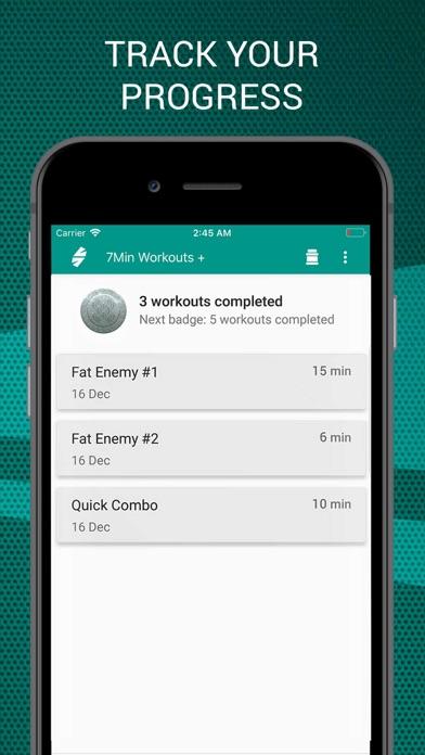 7 Minutes Workouts PRO Screenshots