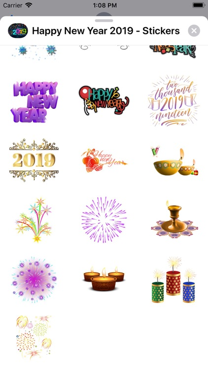 Happy New Year 2019 - Stickers