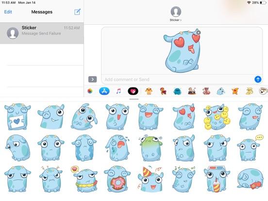 Emoji Cute Pun Funny Stickers screenshot 5