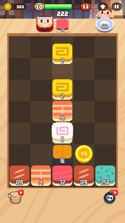 Sushi Drop : Merge Puzzle screenshot-0
