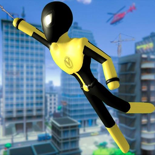 Stickman Spider -Rope Hero Sim
