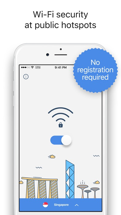 #VPN - Wi-Fi Hotspot Security Screenshot on iOS