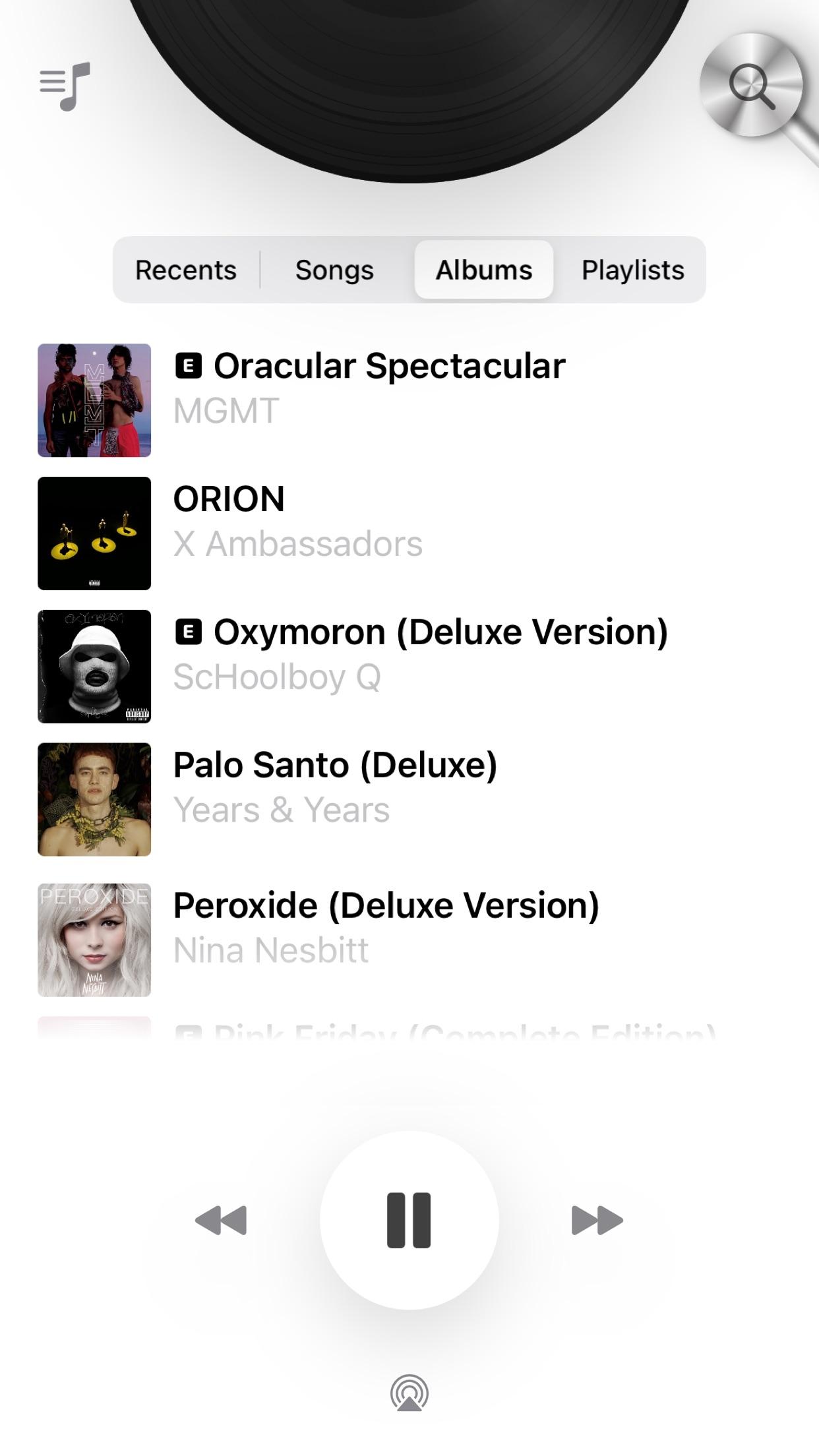 Screenshot do app Vinyls