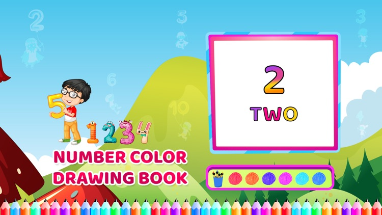Number Colour Drawing Book screenshot-3