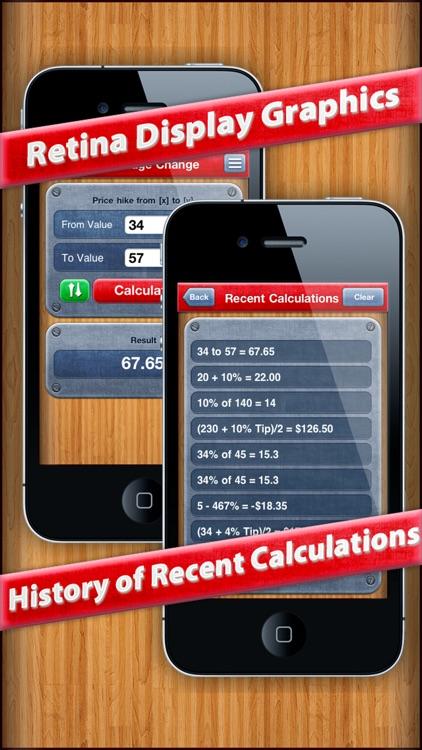 7 in 1 : Percentage Calculator screenshot-4
