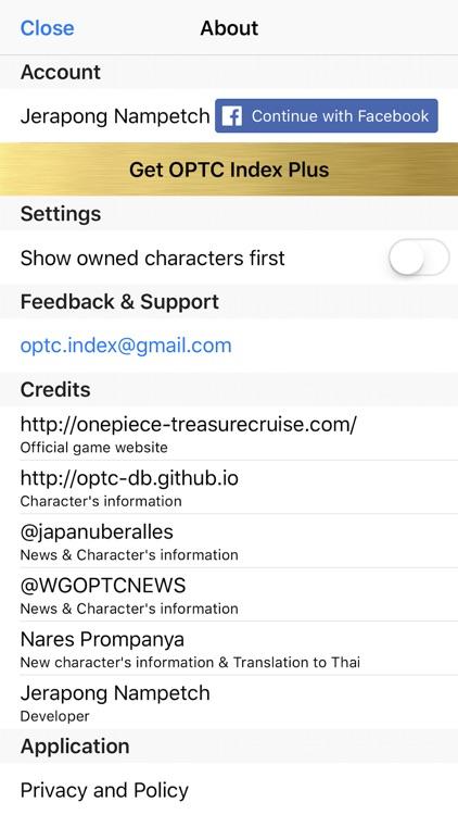 OPTC Index screenshot-6