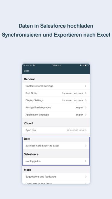 Visitenkarten Scanner-OCR CardScreenshot von 4