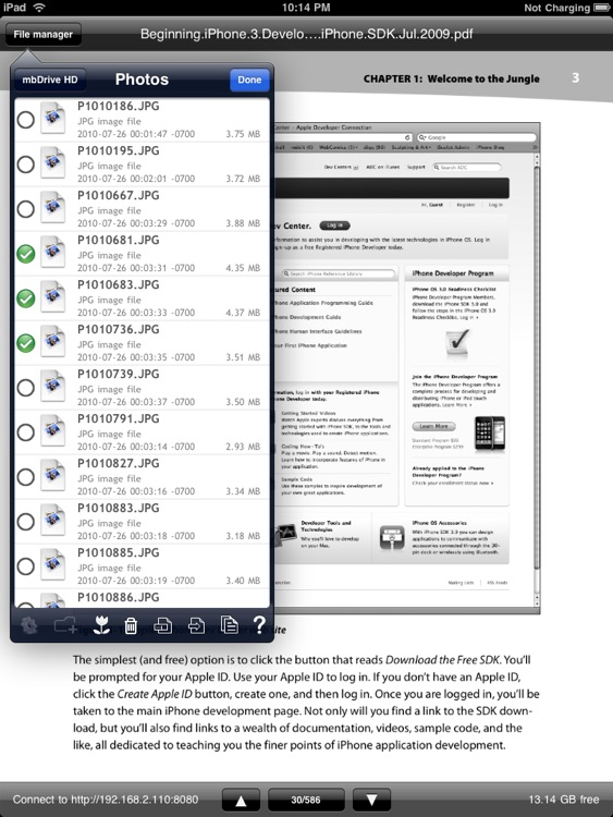 mbDriveHD - WiFi flash disk