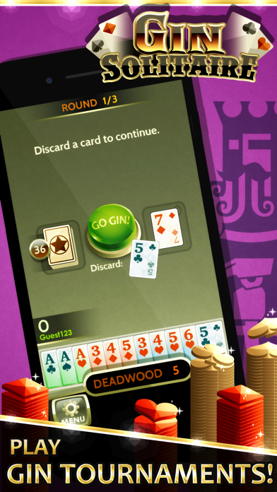 Gin Solitaire screenshot one