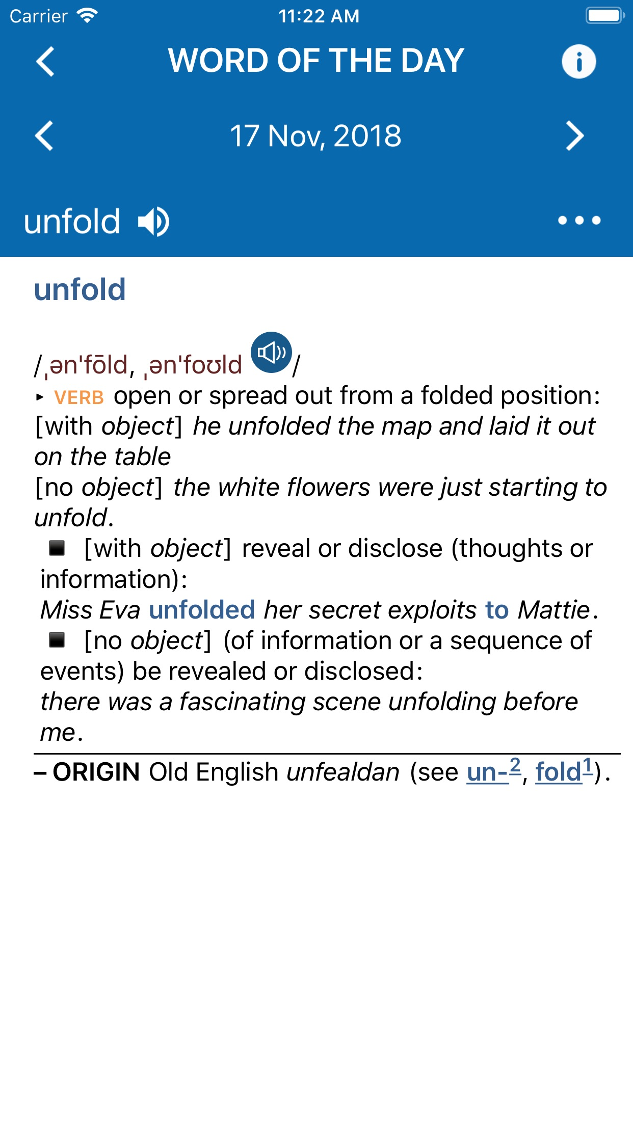 Oxford American Dictionary Screenshot