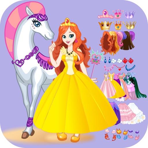 Одень принцессу на белом коне