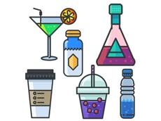 Activities of Beverage Stickers Pack