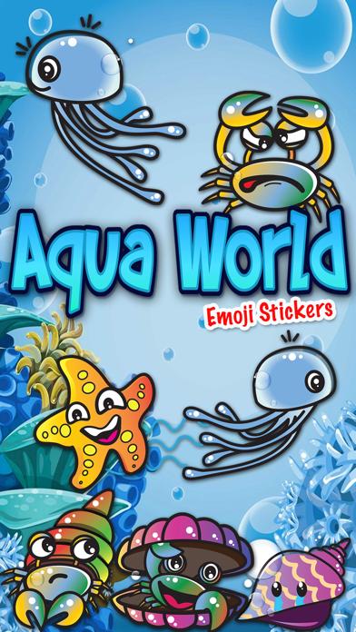 Screenshot for Aqua World Emoji Stickers in Japan App Store