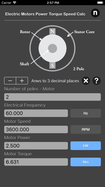 Electric Motors Speed Calc screenshot-4