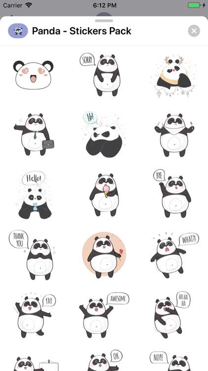 Panda - Stickers Pack screenshot-4