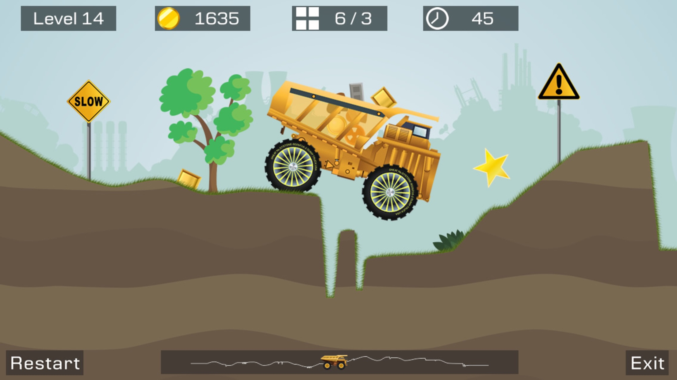 Screenshot do app Big Truck -Mine Express Racing