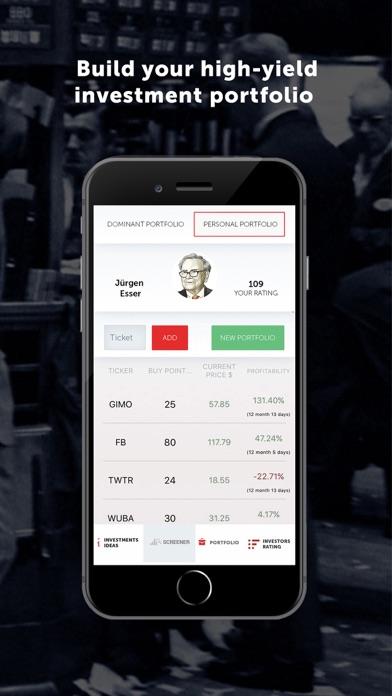 Dominant investorsScreenshot of 5