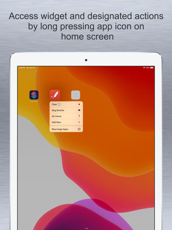 Launcher with Notification Center Widgets screenshot