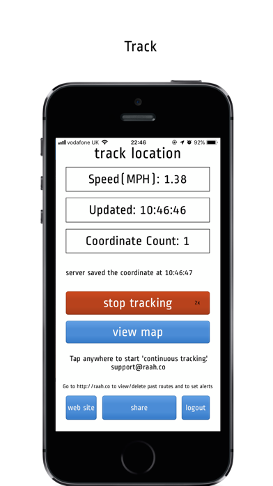 Route Tracker Pro Version screenshot one