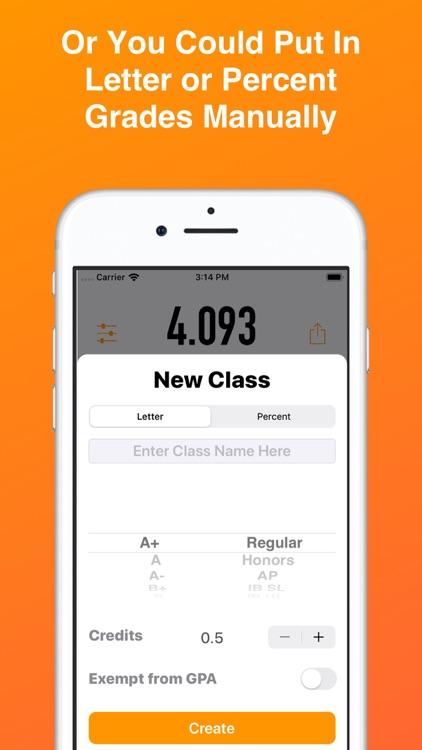 GradePoint-Easy GPA Calculator screenshot-4