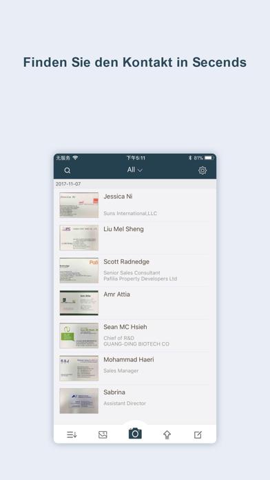 Visitenkarten Scanner-OCR CardScreenshot von 3