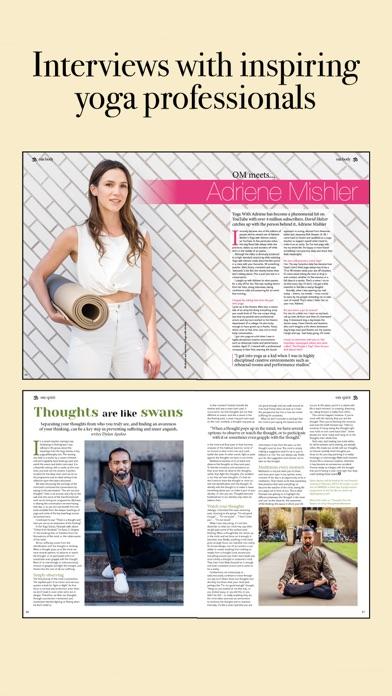 Om Yoga Magazine review screenshots