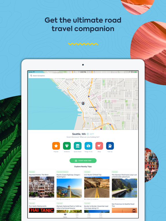 Roadtrippers - Road Trip Planner Map & Travel Guides screenshot