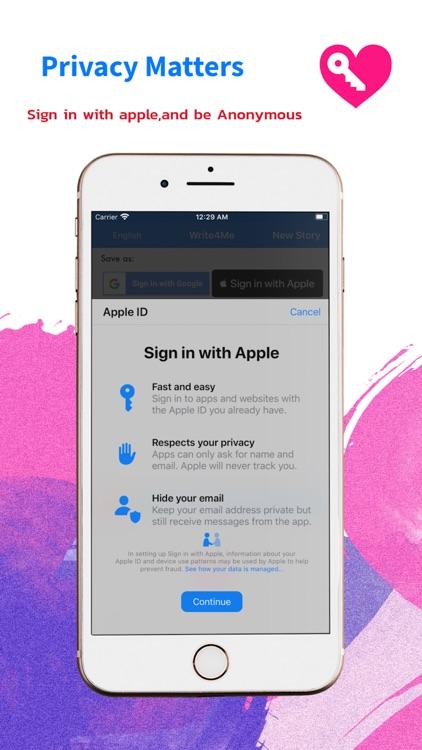 Write4Me - Voice to Text,Story screenshot-4