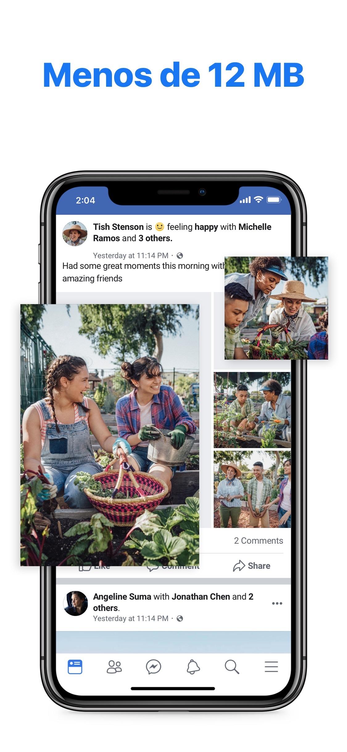 Screenshot do app Facebook Lite