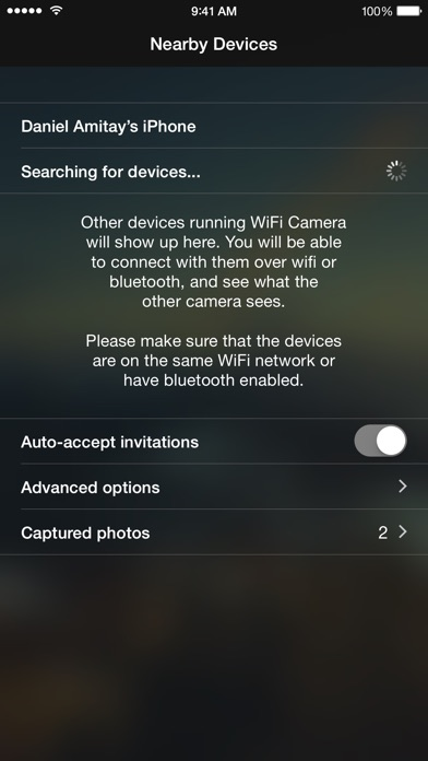 WiFi Camera - Remote iPhones Screenshots