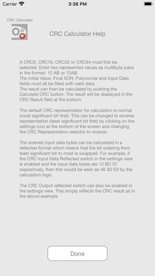 CRC Calculator App 截图