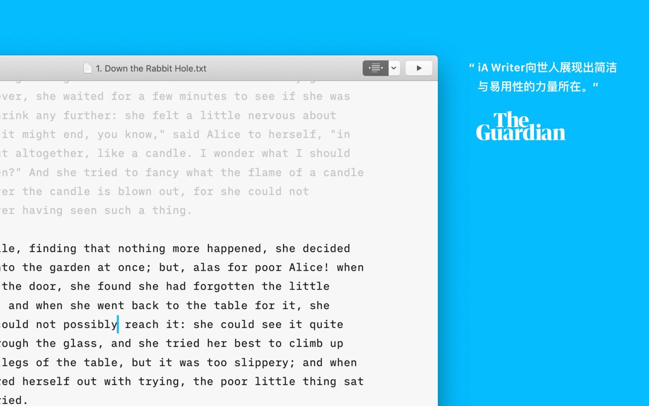 iA Writer 5.6.13 Mac 中文破解版 简洁易用的文本写作工具