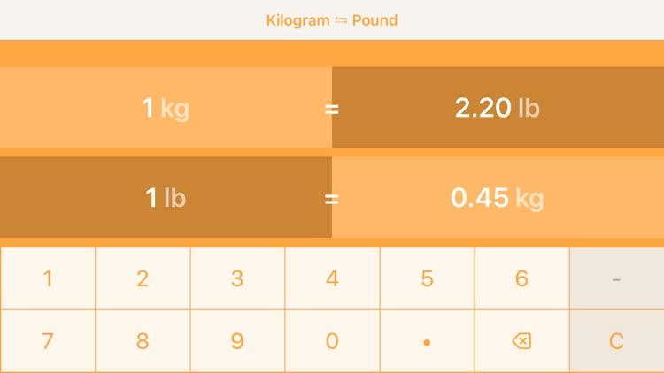 Kilograms To Pounds screenshot-3