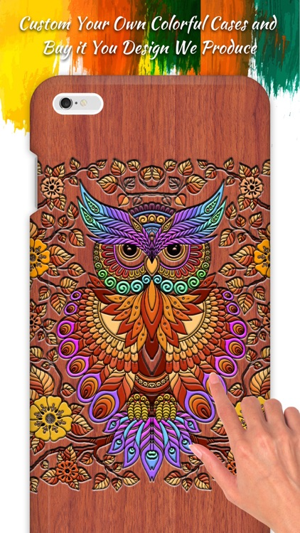 Coloring Owl:Paint Color Cases