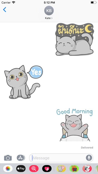 Screenshot for Cat Lovely Gray Sticker in Russian Federation App Store