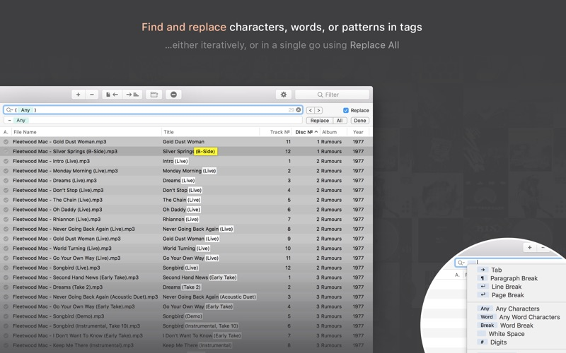 Meta – music tag editor Screenshots