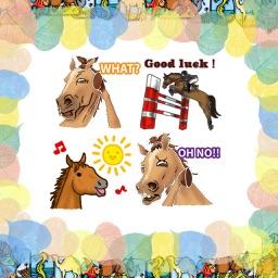 ملصقات احصنة