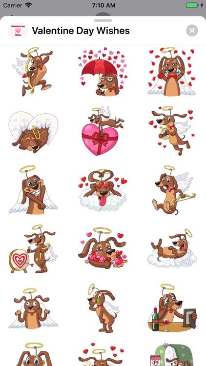 Valentine Day Wishes Stickers screenshot-7