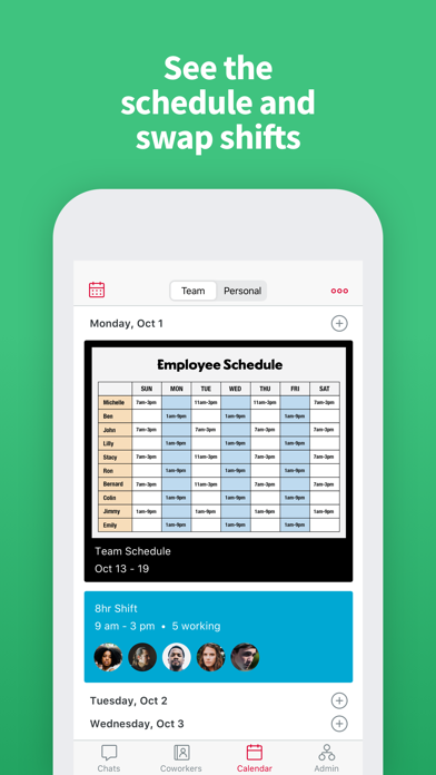 Crew Messaging and Scheduling Screenshot